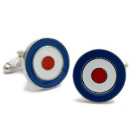 Roundel Cufflinks RAF Air Force/Mod NEW by Onyx-Art CK187